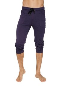 4-rth Cuffed Yoga 3/4 Pants Eggplant