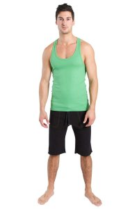 4-rth Racer Back Yoga Tank Top T Shirt Bamboo Green