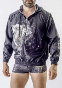 Geronimo Elephant Summer Jacket Sweater Black 1704V3