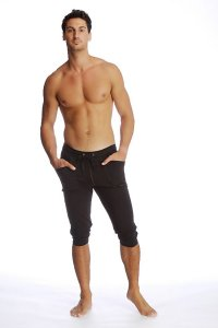 4-rth Cuffed Yoga 3/4 Pants Black