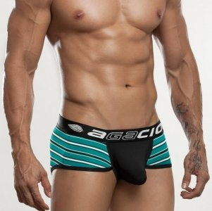 Agacio Stripe Contoured Pouch Brief Underwear Black 6804