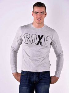 Roberto Lucca BOXE Slim Fit Long Sleeved T Shirt Grey Melange 80218-02034