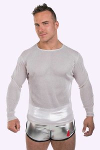 JJ Malibu Disco Long Sleeved T Shirt Silver JJTOP033