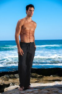 Sauvage Linen Resort Pants Black 776