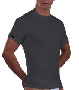Lord Cotton Short Sleeved T Shirt Charcoal 180