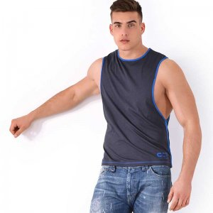 Roberto Lucca CC7 Large Armhole Muscle Top T Shirt Dark Grey...