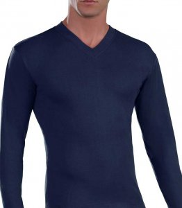 Lord V Neck Long Sleeved T Shirt Blue 187