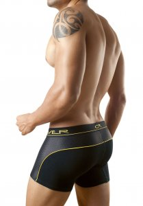 Clever Cotton Mesh Boxer Brief Underwear Black/Yellow 2080