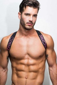 Marco Marco Elastic Body Harness Pink