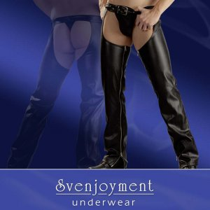 Svenjoyment 2-Way Zipper Chaps With String Pants Black 2140055