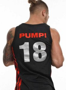 Pump! Falcon 18 Tank Top T Shirt Black/Red 14013