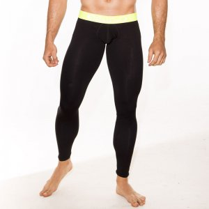 Gigo BLACK YELLOW Extra Long Boxer Long Johns Long Underwear...
