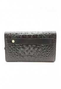 Spy Henry Lau Crocodile 3D Pattern Leather Clutch Bag Black ...