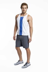 Jack Adams Race Tank Top T Shirt White/Blue 403-110