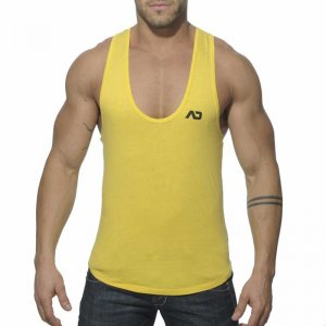 Addicted Vintage Low Rider Tank Top T Shirt Yellow AD216
