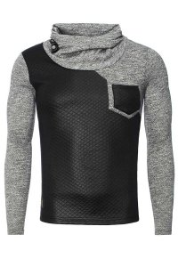 Carisma Checker Combination High Neck 7916-2 Sweater Black