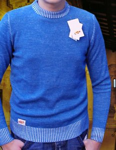 Elle Creazioni Arizona Sweater Light Blue/White