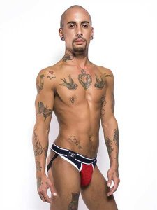 Clearance Mister B Urban Mission Jock Strap Underwear Red/Black 821630