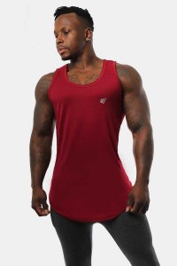 Jed North Vital Muscle Top T Shirt Red JNTOP041