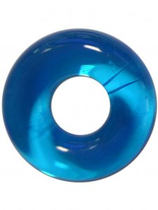 RudeRider Fat Stretchy Cock Ring Ice Blue
