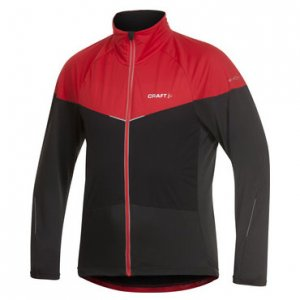 Craft Elite Bike Long Sleeved Jacket Black/Bright Red 1901615