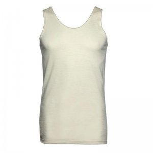Minerva Wool Vest Muscle Top T Shirt Ecru 10300