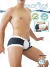 Icker Sea Chess Duotone Square Cut Trunk Swimwear COB-12-100