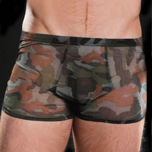 Lookme Sheer Boxer Brief Underwear Camouflage 9055