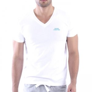 Private Structure Custom Fit V Neck Bodywear Short Sleeved T Shirt White 99-MT-1626
