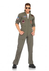 Leg Avenue Top Gun Flight Suit Costume Khaki 83702