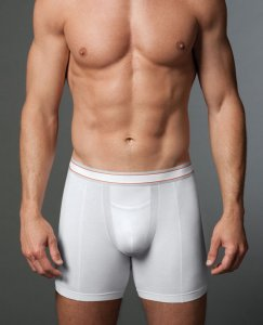 SPANX For Men Cotton Comfort Boxer Brief Underwear White 620