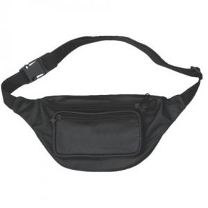 Clearance DBE Genuine Leather Fanny Bag Black DBE3440