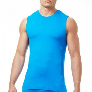 Papi Sport Muscle Top T Shirt Neon Blue 626805-454