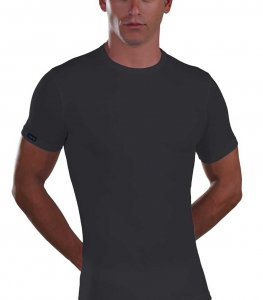 Lord Micromodal Short Sleeved T Shirt Black 387