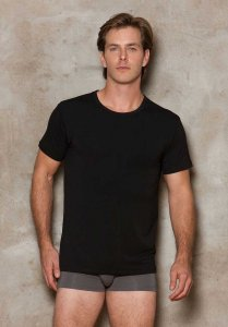 iCollection Modal Short Sleeved T Shirt Black 8807