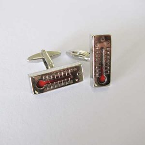 Distino Of Melbourne Novelty Thermometer Cufflinks CTHERMOMETER