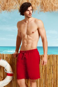 Doreanse Solid Boardshorts Beachwear Red 3804