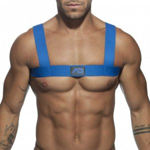 Addicted Fetish Basic Elastic Harness Royal Blue ADF104