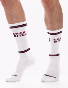 Barcode Berlin Shady Bitch Gym Socks White/Black 91624-204