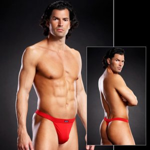 Blue Line Performance Microfiber Thong Underwear Red BLM025