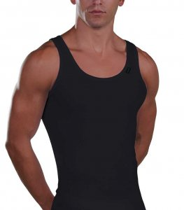 Lord Cotton Tank Top T Shirt Black 1529