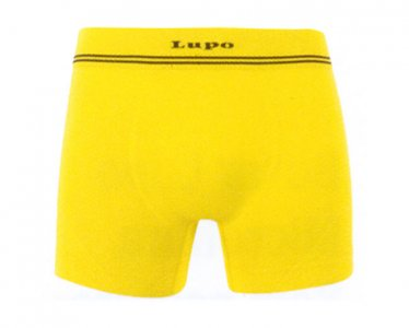 Lupo Microfiber Seamless Boxer Brief Underwear Bright Yellow 673-02