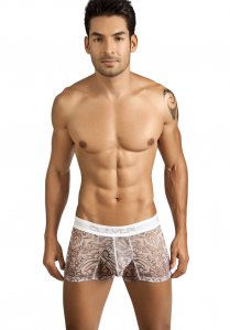 Clever Tribal Mesh Boxer Brief Underwear White 2145