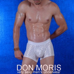 Don Moris Stars Boxer Brief Underwear White DM080843