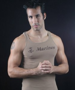 Go Softwear Military US Marines Tank Top T Shirt Tan 3605M