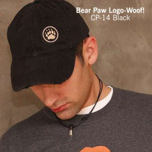 Ajaxx63 Bear Paw Logo Woof Regular Cap Black CP14
