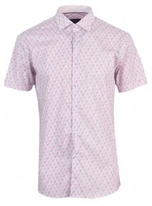 Spazio Strands Short Sleeved Shirt Pink 9-3716