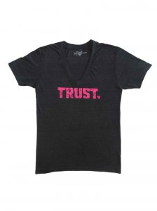 Bullywear Trust V Neck Short Sleeved T Shirt Black SST4-VN