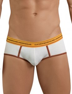 Clever Attractive Piping Brief Underwear Beige 5394