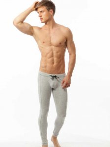 N2N Bodywear Cotton Sport Runner Pants Heather CS7